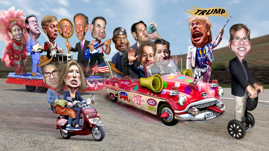 Republican Primary Satire - Clown Car Parade