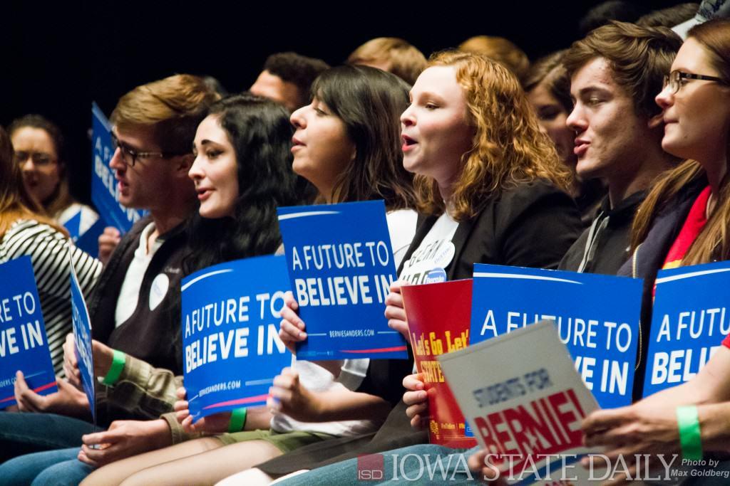 Bernie Sanders Supporters in Iowa 2016