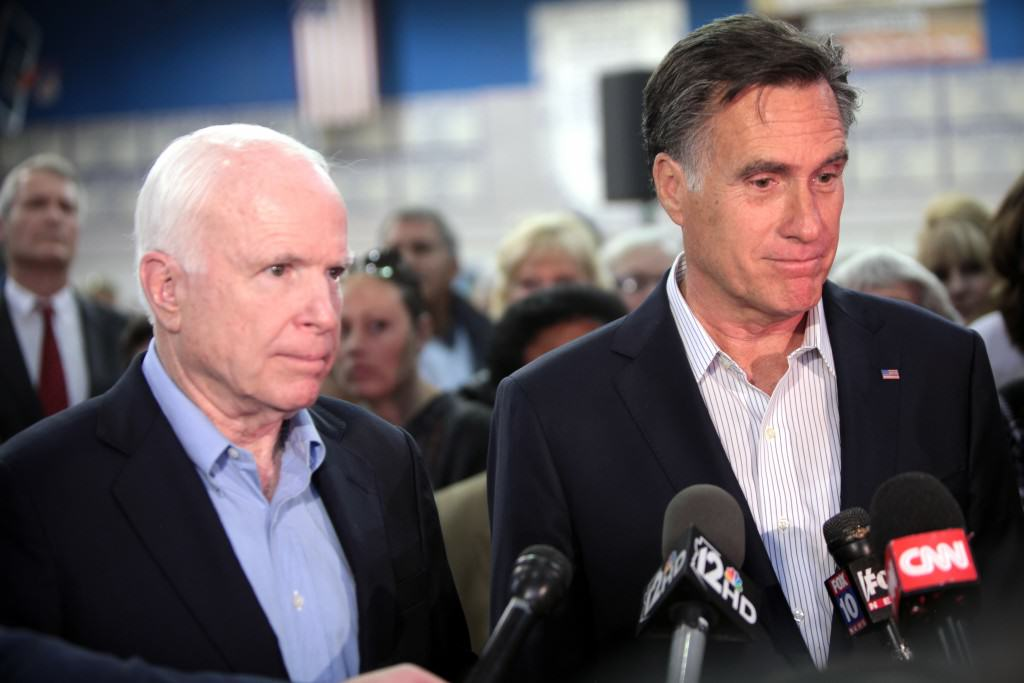 John McCain and Mitt Romney  - Republican Establisment