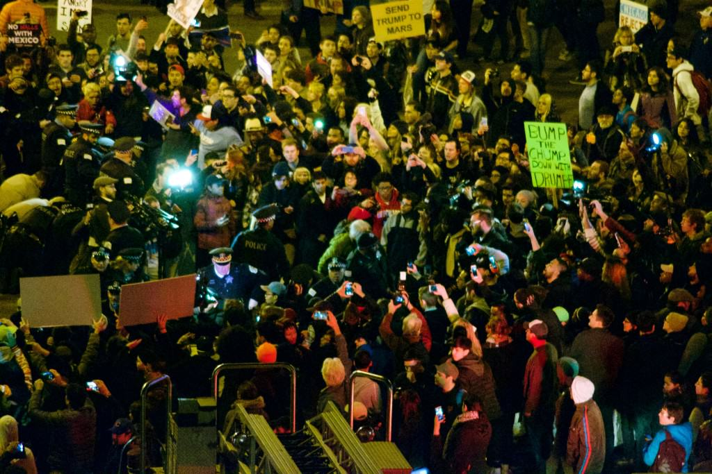 Donald Trump Riots and Protests in Chicago