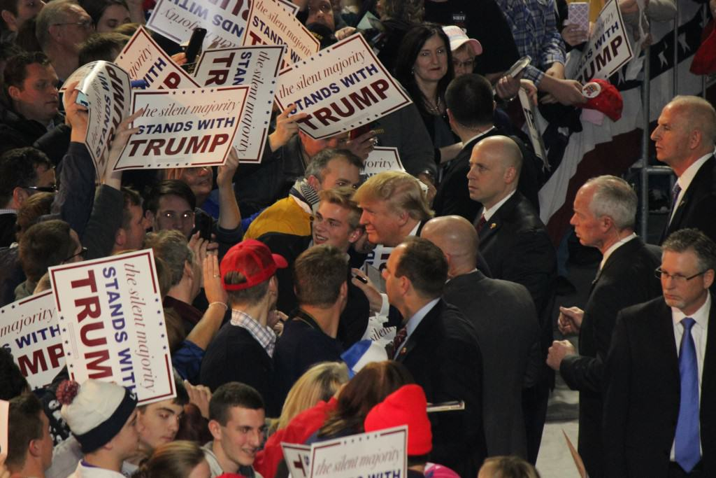 Donald Trump a Fascist ? Rally with supporters in Iowa