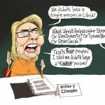 hillary-benghazi-cartoon - political satire drawings