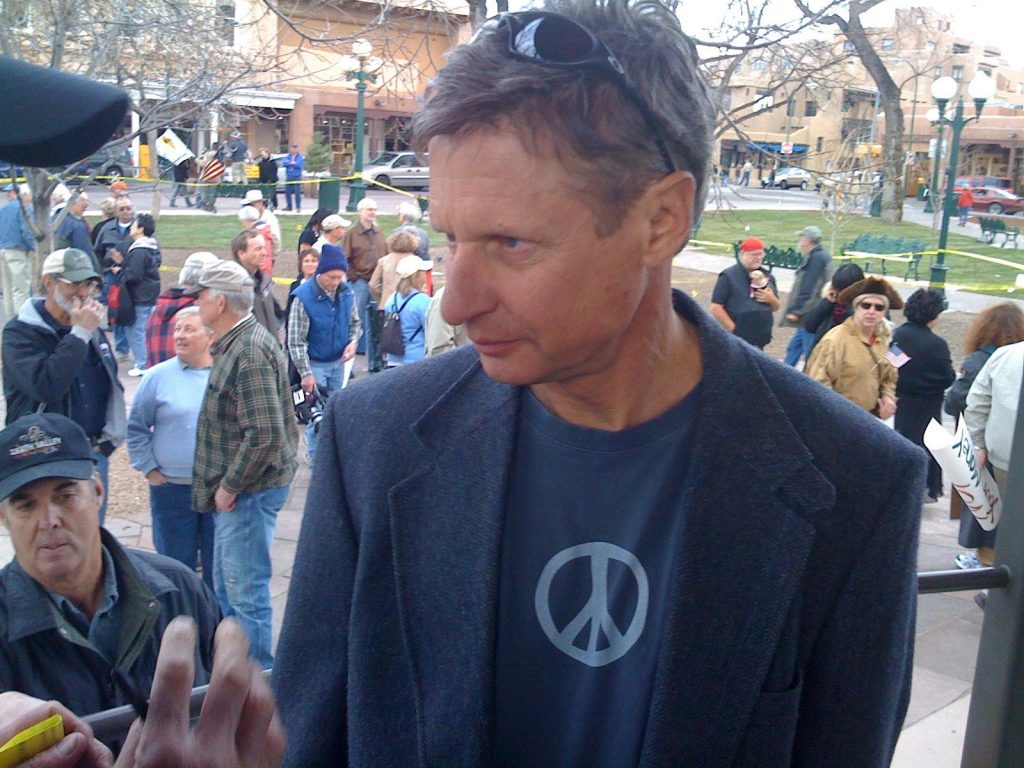Libertarian Party Candidate Gary Johnson