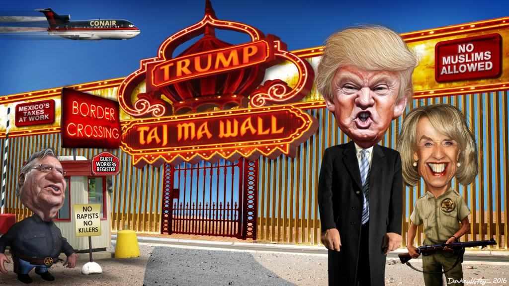 Donald Trump - Taj Ma Wall - Political Satire