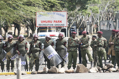 Turmoil in Kenyan politics 2007-2008 came close to civil war after the 2007 elections in Kenya